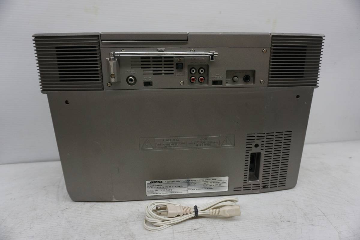 (w05145) BOSE CDラジカセ ACOUSTIC WAVE STEREO MUSIC SYSTEM AWM ボーズ ジャンク_画像3
