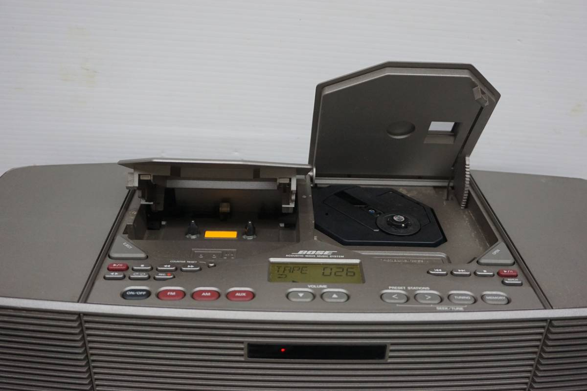 (w05145) BOSE CDラジカセ ACOUSTIC WAVE STEREO MUSIC SYSTEM AWM ボーズ ジャンク_画像5