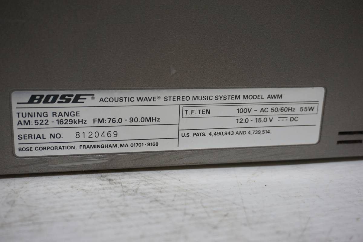 (w05145) BOSE CDラジカセ ACOUSTIC WAVE STEREO MUSIC SYSTEM AWM ボーズ ジャンク_画像6