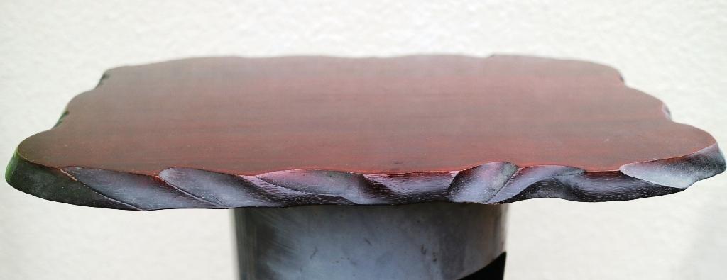 (0520) 天然木 削り出し 敷板 盆栽台 花台 飾り物台 48×32cm 16号_画像3