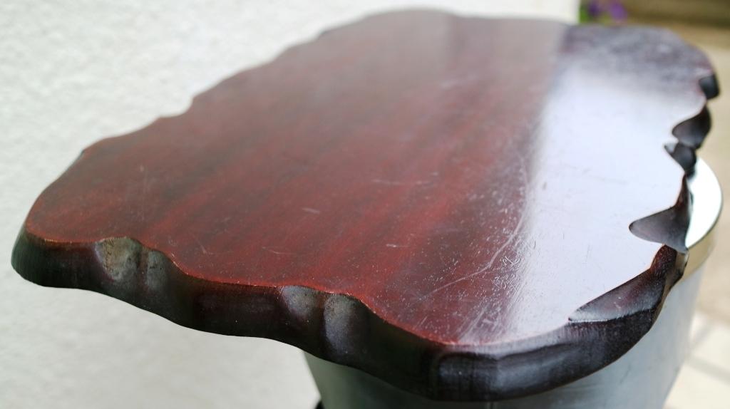 (0520) 天然木 削り出し 敷板 盆栽台 花台 飾り物台 48×32cm 16号_画像1