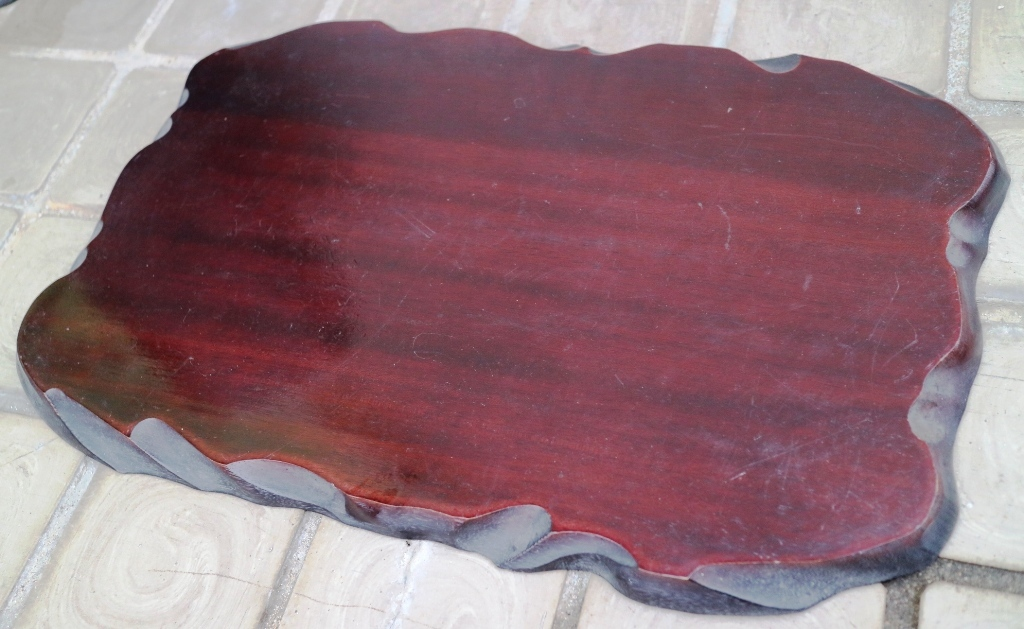 (0520) 天然木 削り出し 敷板 盆栽台 花台 飾り物台 48×32cm 16号_画像2