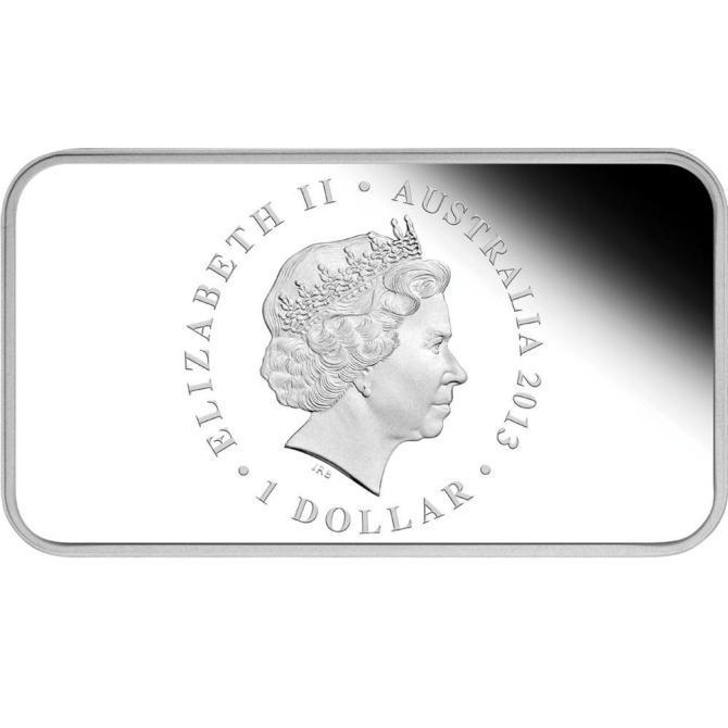 2013 オーストラリア 紙幣発行100周年記念 プルーフ 1 オンス 銀貨と切手 セット 完全未使用品_画像3