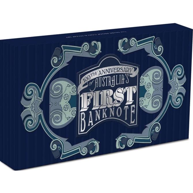 2013 オーストラリア 紙幣発行100周年記念 プルーフ 1 オンス 銀貨と切手 セット 完全未使用品_画像4