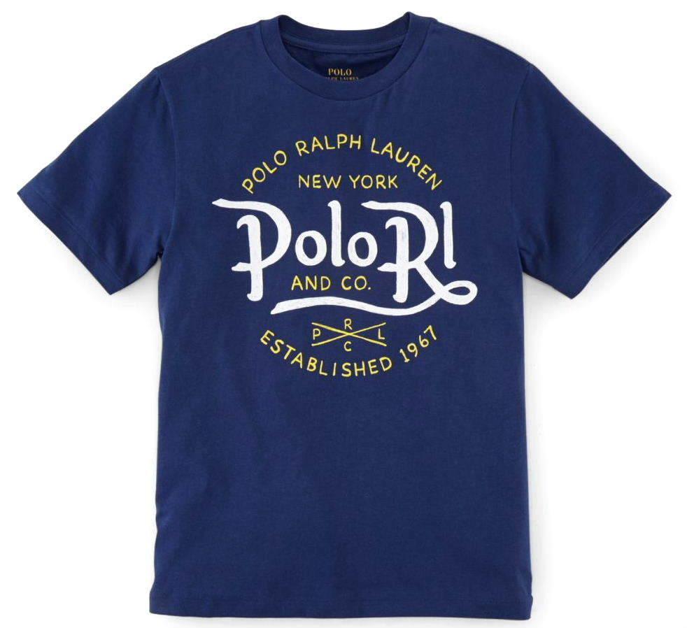 新品タグ付き【 ラルフローレン 】コットンTシャツ L~LL 《 US規格 Boys XL 》 ネイビー 紺 POLO RALPH LAUREN 正規品