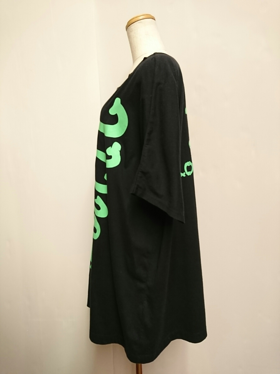【LOVER'S ROCK】骨 ドルマン BIG Tシャツ 黒 F / スーパーラヴァーズ スーパーラバーズ カットソー ビッグT_画像7