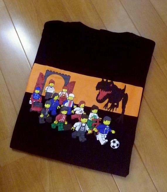LEGO レゴ ★ Tシャツ 「恐竜」 メンズ Lサイズ 検)レゴブロック、ミニフィグ_画像5