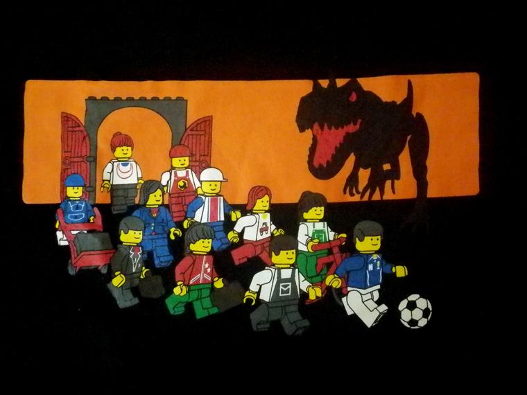 LEGO レゴ ★ Tシャツ 「恐竜」 メンズ Lサイズ 検)レゴブロック、ミニフィグ