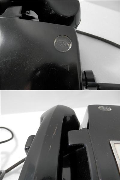 当時もの 昭和 レトロ 黒電話 磁石式電話機 3号と41号M型 2台おまとめ 手回し式 ジャンク品 NTK 日本電信電話公社_画像9