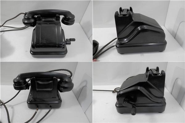 当時もの 昭和 レトロ 黒電話 磁石式電話機 3号と41号M型 2台おまとめ 手回し式 ジャンク品 NTK 日本電信電話公社_画像2