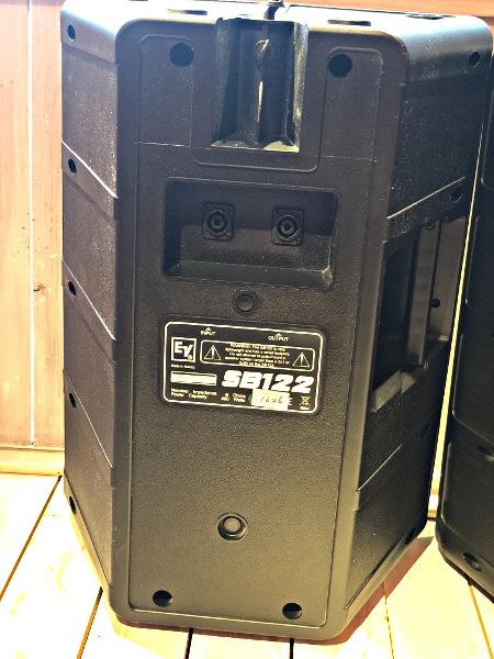 美品 EV Electro Voice エレクトロボイス SB122 サブウーファーシステム スピーカー 天吊りブラケット付き_画像6