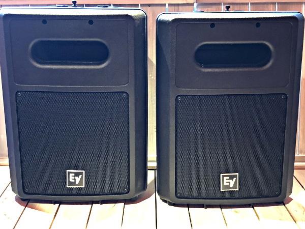 美品 EV Electro Voice エレクトロボイス SB122 サブウーファーシステム スピーカー 天吊りブラケット付き_画像1