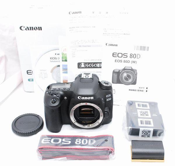 【超美品・メーカー保証書 付属品完備】Canon キヤノン EOS 80D