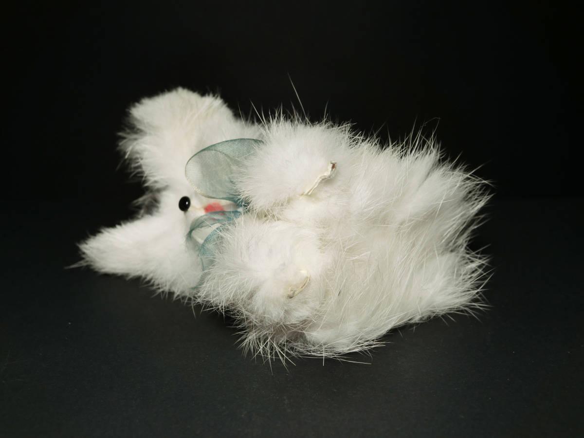 昭和レトロ 可愛い『モフモフ犬』マスコット・ぬいぐるみ人形 箱付(ファンシー雑貨/小物インテリア/女の子玩具資料)_画像4