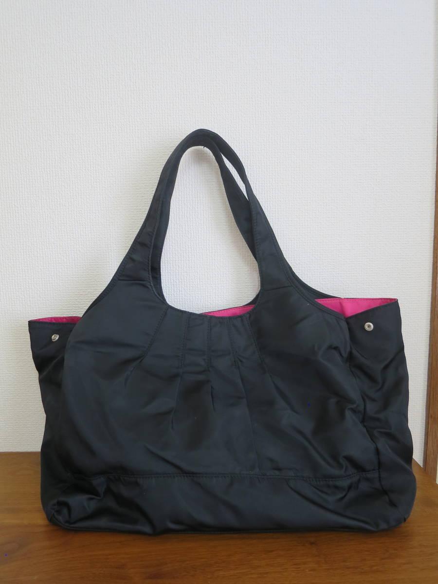 マザーズバッグ 黒×フューシャピンク maman coeur_画像2