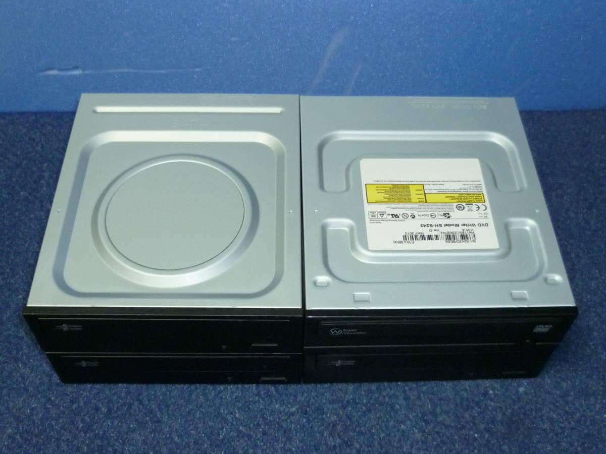 DVD ドライブ 4台  SATA 中古品