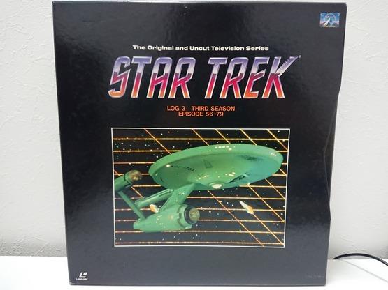 6970 スタートレック STAR TREK TV ファースト~サード シーズン LD レーザーディスク 全3巻 BOX セット 売切り 1品限り_画像4