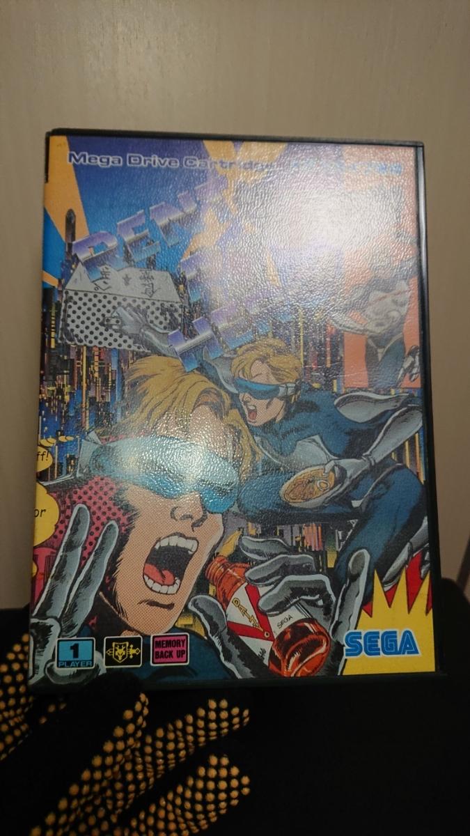 1円~MD「レンタヒーロー」メガドライブソフト 箱、説明書付き。_画像8