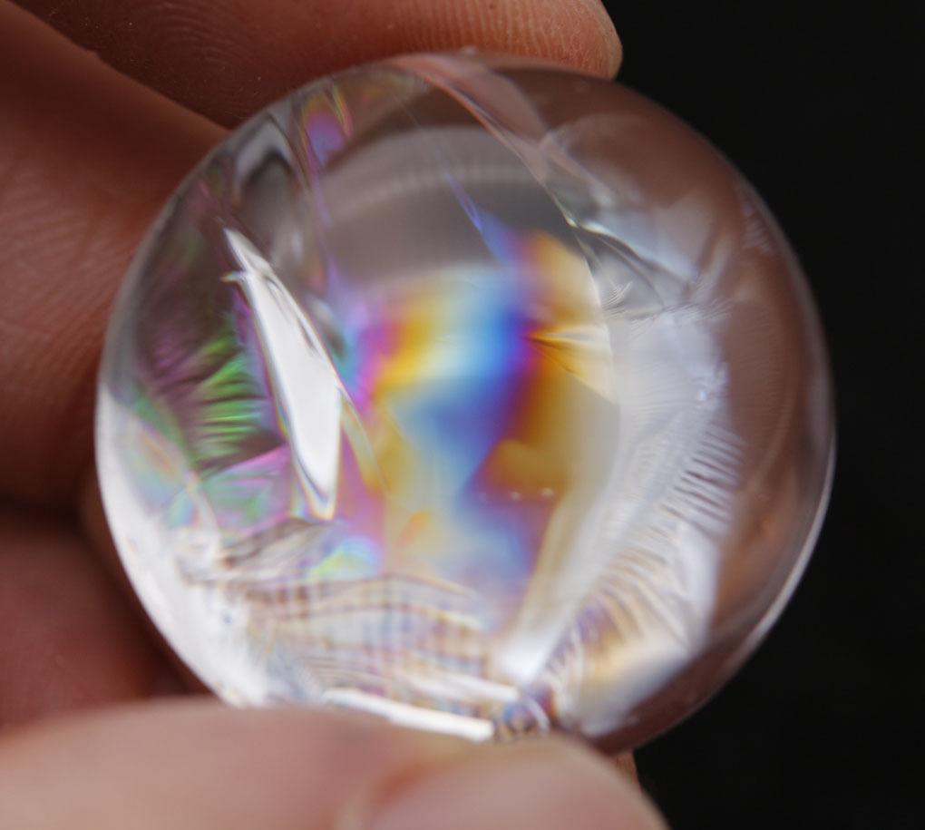 【古憶】★超レア★虹入り水晶 裸石、ルース★アイリスクォーツ★曇りや濁りなし 高透明度15.5g/jh61_画像6