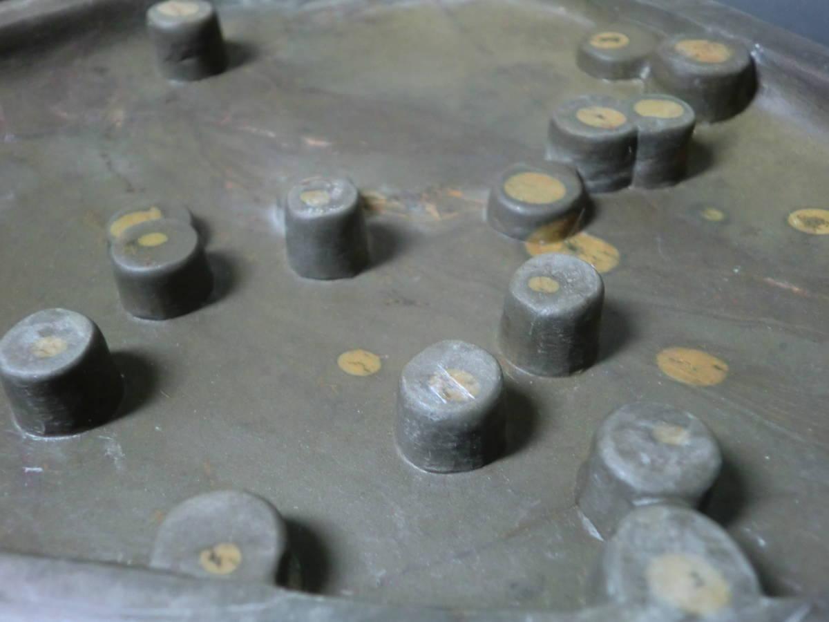 【入手困難】旧梅花坑硯 中国高級硯 眼柱石眼 細密彫刻 石紋 文房四宝 骨董品 書道具_画像4