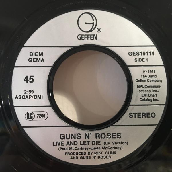 ☆Guns N' Roses/Live And Let Die☆7inch 45_画像2