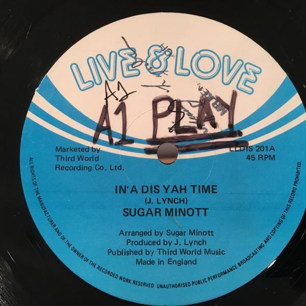 ★Sugar Minott/In A Dis Yah Time★MELLOW LOVERS ROCK!_画像1