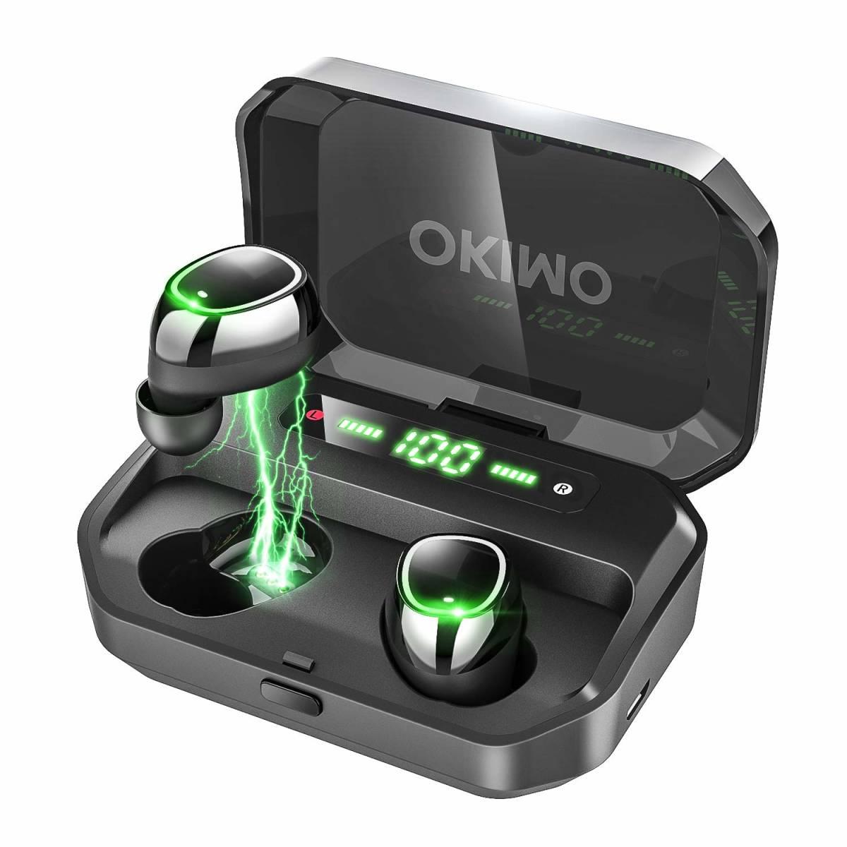 新品●【2019最新版 LEDディスプレイ Bluetooth イヤホン 】 ワイヤレスイヤホン 電池残量インジケーター付き イヤホン Hi-Fi 高音質 Q7284