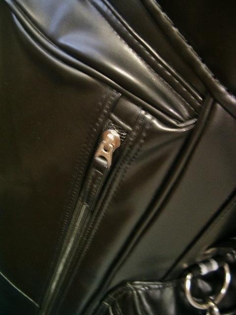 美品 PUMA プーマ レディース 高級タイプ 合皮素材 黒 ゴルフバッグ_画像5