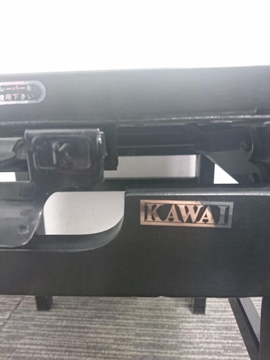 KAWAI カワイ 椅子 ピアノ椅子 背もたれ付き 高低自在椅子 音楽 格安売り切りスタート☆_画像4