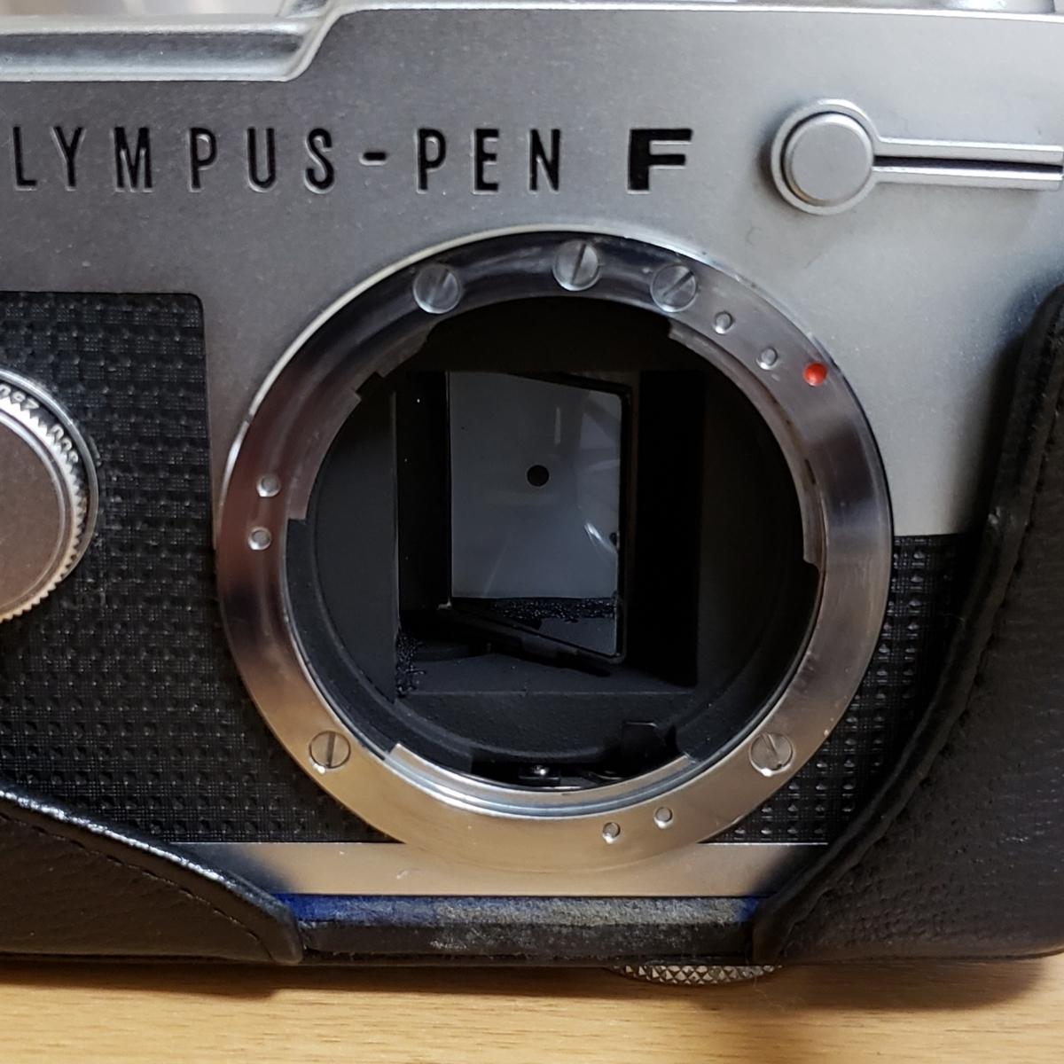 OLYMPUS PEN-FT F.ZUIKO Auto-S 1:1.8 f=38mm オリンパス フイルムカメラ ケース付 中古_画像7