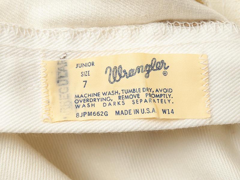 1970年代 デッドストック ラングラー ジュニアジーンズ アメリカ製 WRANGLER USA製_画像7