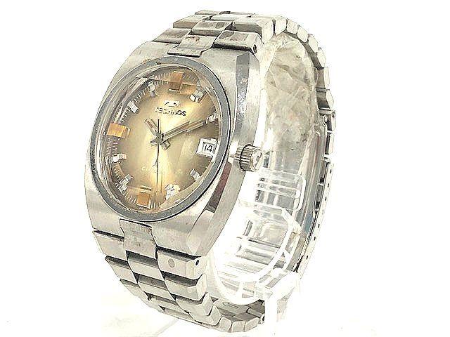【希少レア】 TECHNOS テクノス CONDOR メンズ腕時計 自動巻き 3針/デイト アンティーク 稼動品 008201-1 m16-22y
