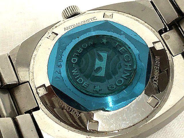 【希少レア】 TECHNOS テクノス CONDOR メンズ腕時計 自動巻き 3針/デイト アンティーク 稼動品 008201-1 m16-22y_画像4