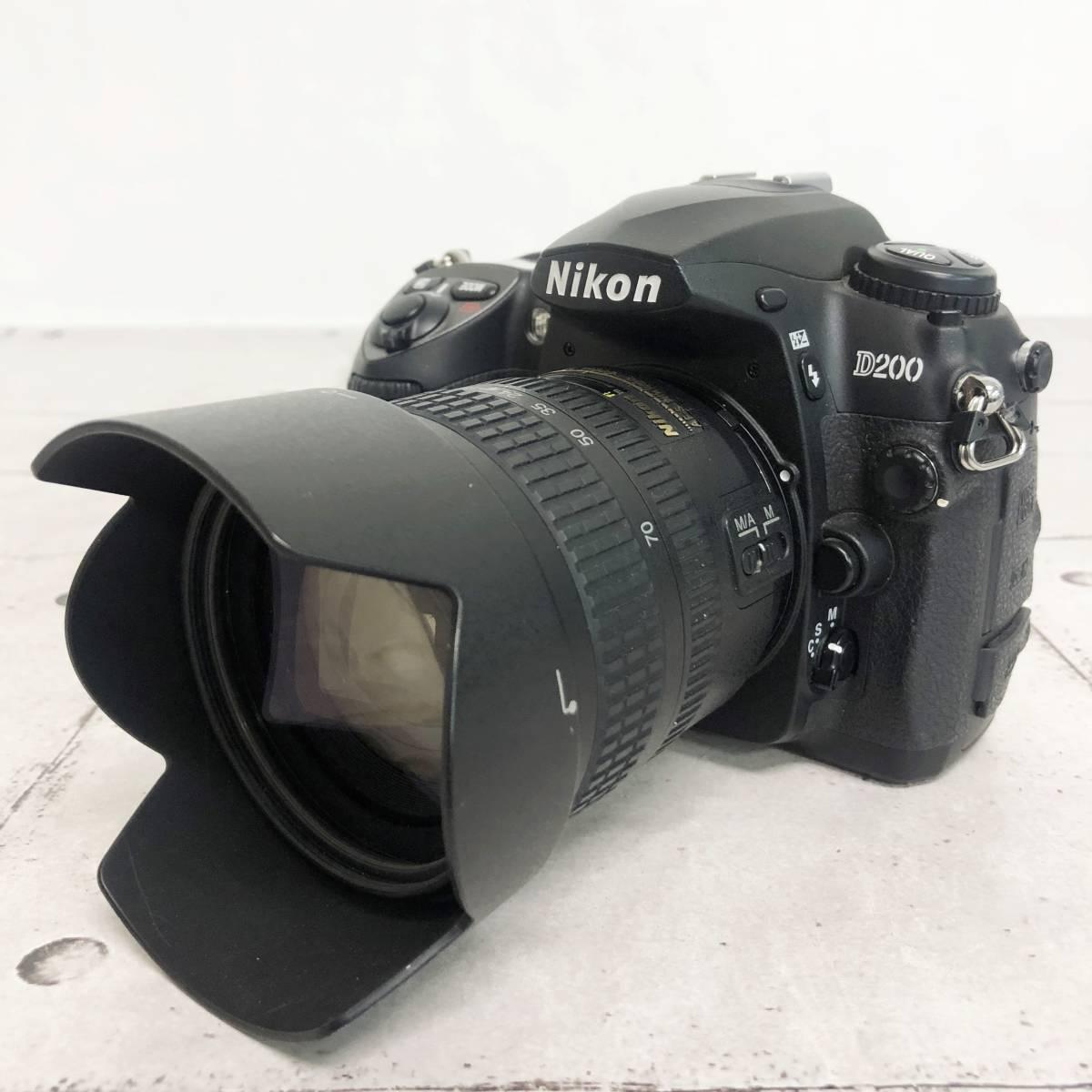 ニコン カメラ D200 AF-S NIKKOR 18‐70㎜ 1:3.5-4.5G 動作未確認 ジャンク品