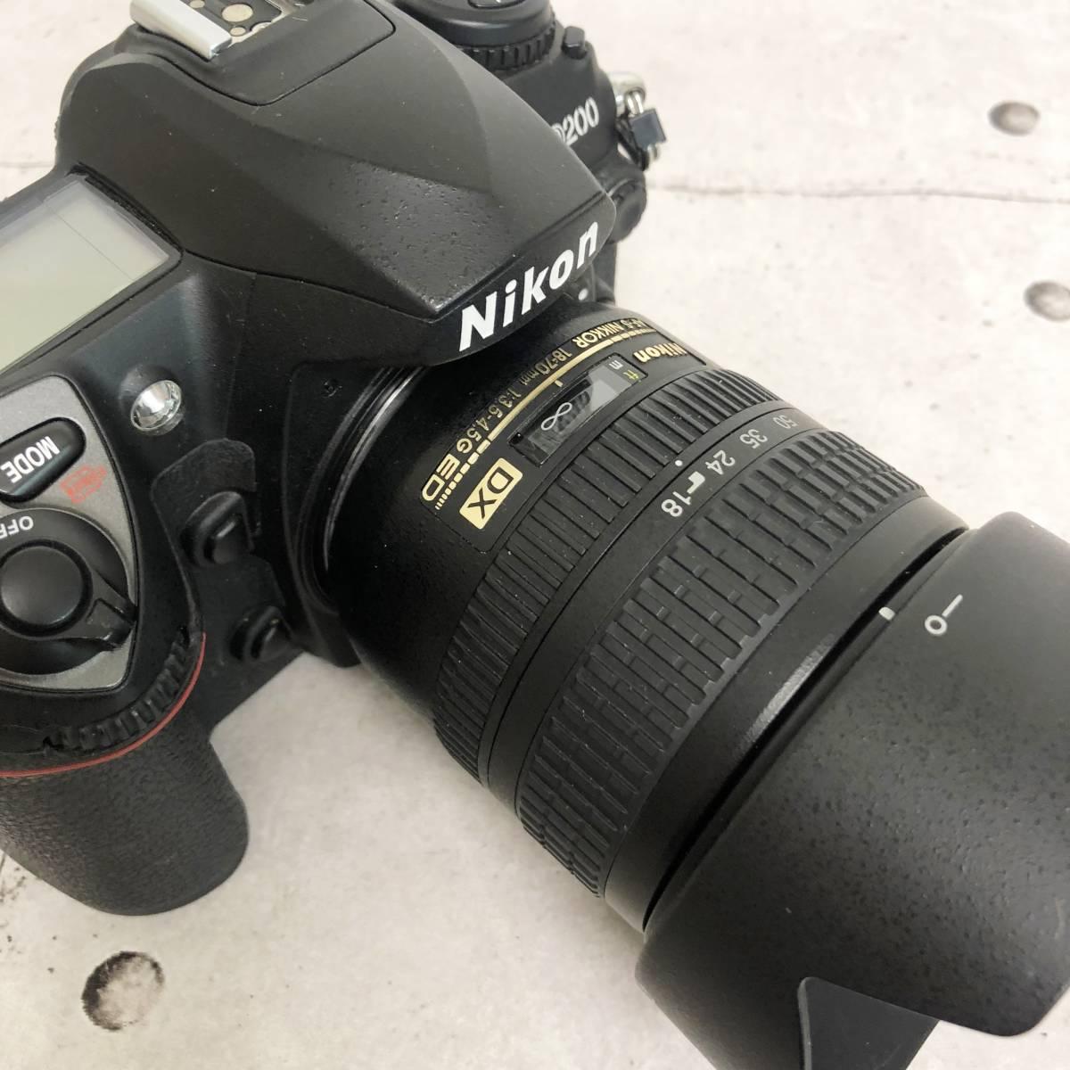 ニコン カメラ D200 AF-S NIKKOR 18‐70㎜ 1:3.5-4.5G 動作未確認 ジャンク品_画像7
