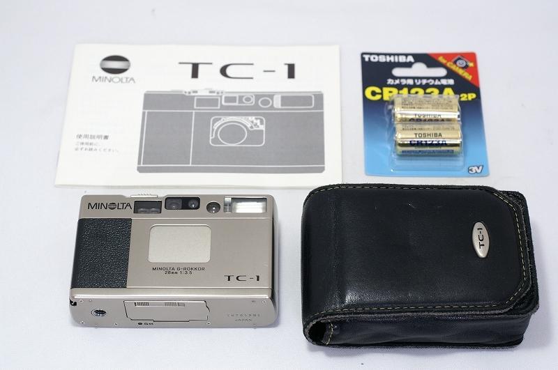 MINOLTA TC-1 ミノルタ フィルム カメラ おまけ付 35mm 高級コンパクト 検) CONTAX T3 T2 GR1 28Ti 35Ti ローライ 35