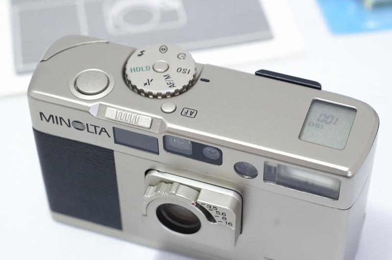 MINOLTA TC-1 ミノルタ フィルム カメラ おまけ付 35mm 高級コンパクト 検) CONTAX T3 T2 GR1 28Ti 35Ti ローライ 35 _画像6