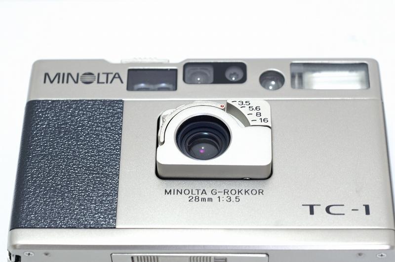 MINOLTA TC-1 ミノルタ フィルム カメラ おまけ付 35mm 高級コンパクト 検) CONTAX T3 T2 GR1 28Ti 35Ti ローライ 35 _画像7