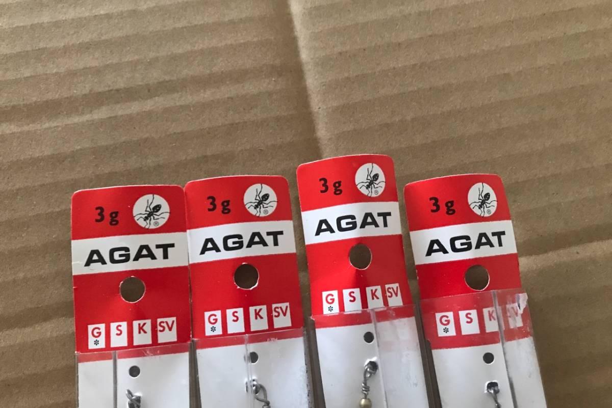 新品 MYRANS マイヤー AGAT アガット 3g  ゴールド 4個 スピナー トラウト マイラン_画像2
