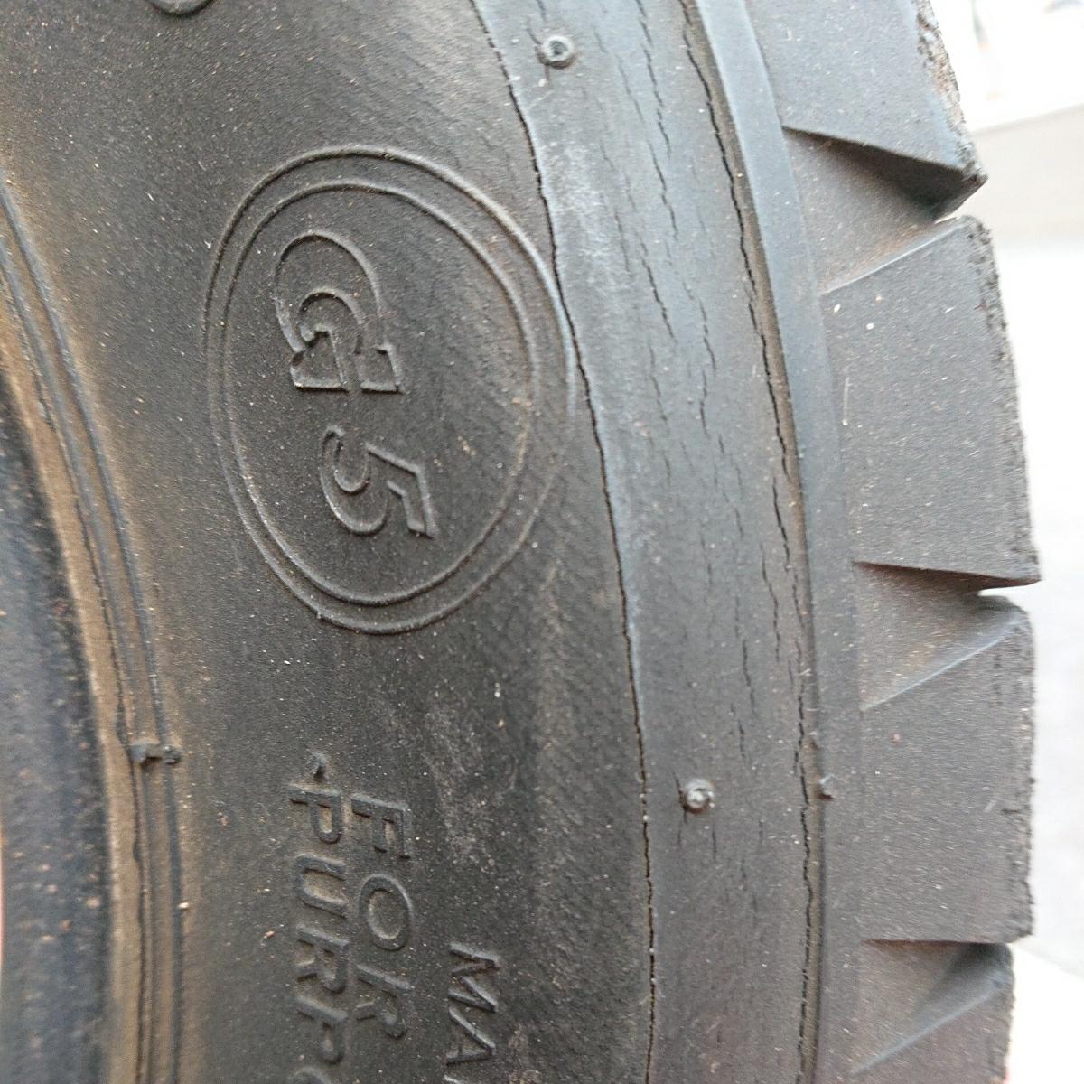 ダンロップ G5 4本セット 520-10 中古タイヤ ローバーミニ_画像5