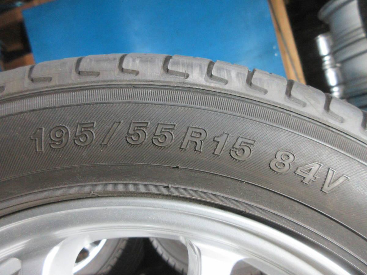 ヨコハマ ECOS ES300 195/55R15 4本セット №8869下 アルミ付き 室内保管 オンロード 夏タイヤ_画像5