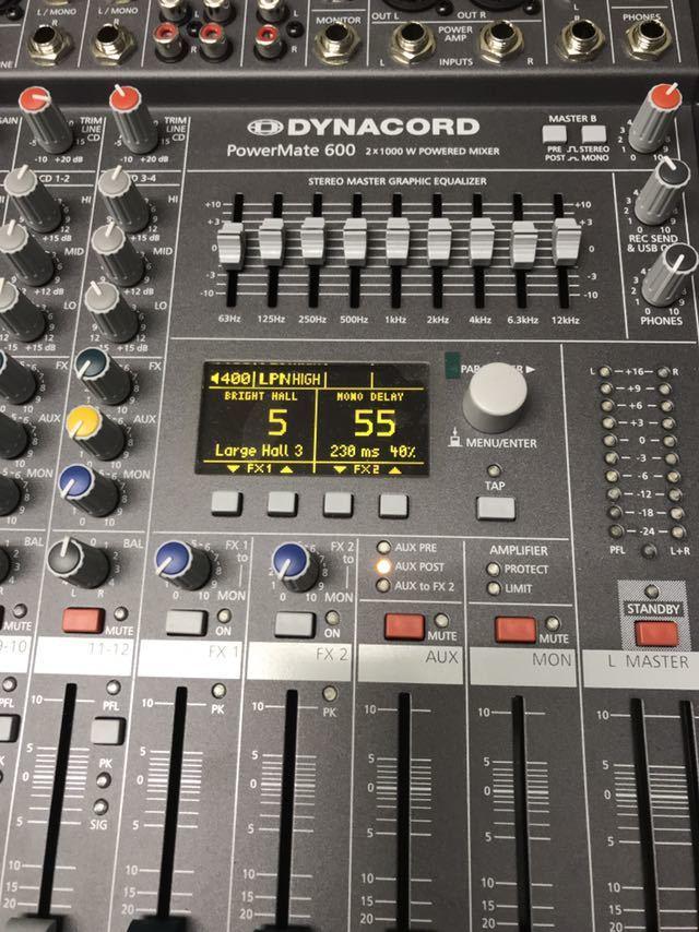 ダイナコード ハワードミキサー Dynacord Powermate 600-3 中古美品_画像2