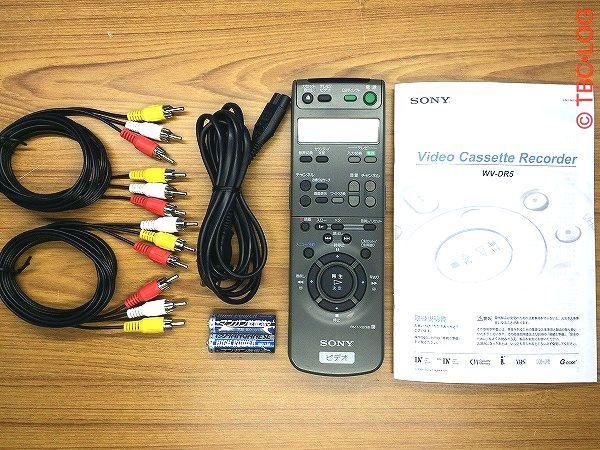 ★SONY miniDV/DV VHS ビデオカセットレコーダー WV-DR5 ★対応リモコン付き★動作良好★_画像10
