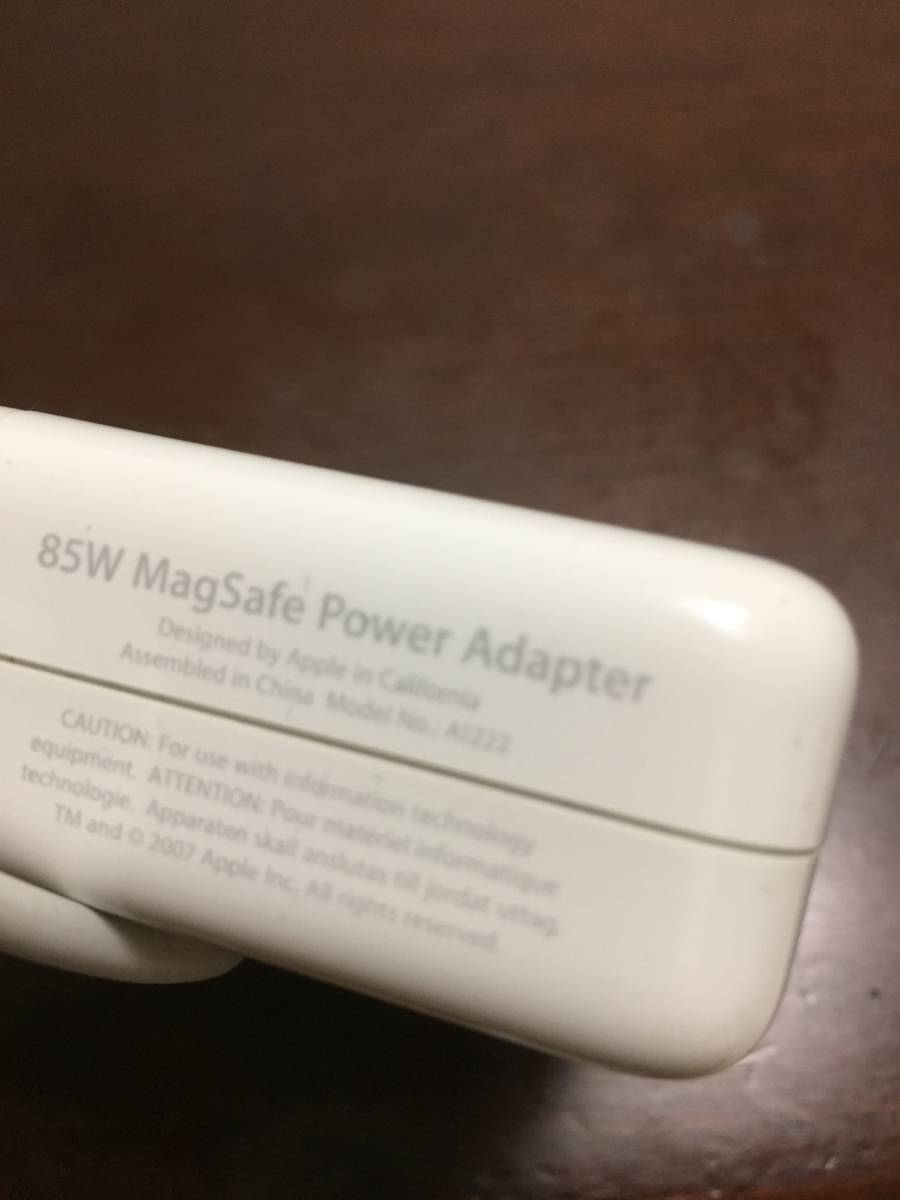 Apple 純正 85W MagSafe Power Adapter A1222 MacBook Air Pro_画像3
