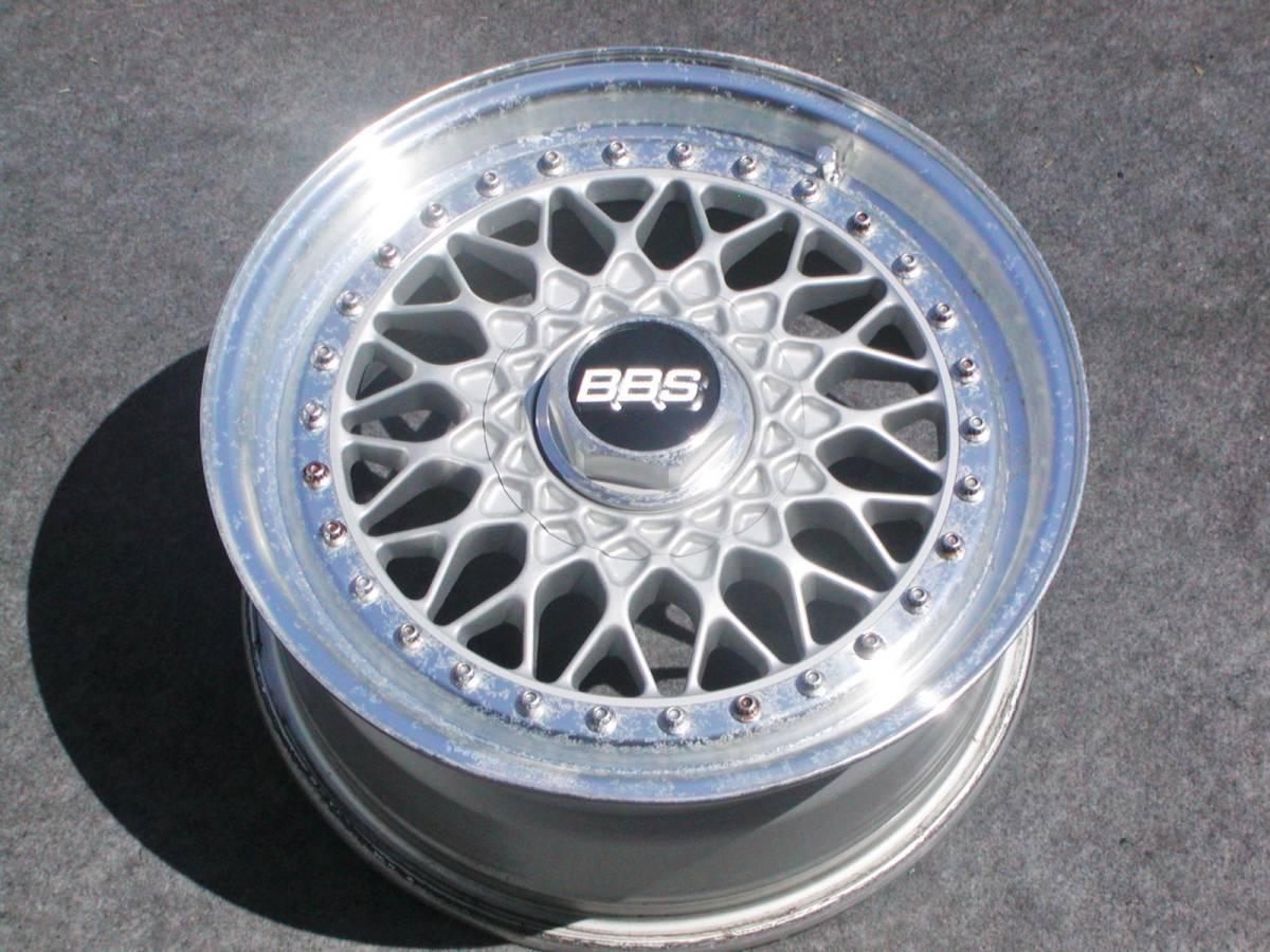 超貴重 当時物 BBS RS 033 6.5J +34 PCD100 ロードスター フィット マーチ シビック プロボックス ゴルフ エブリィ TE37 LM CE28 ワタナベ_画像3
