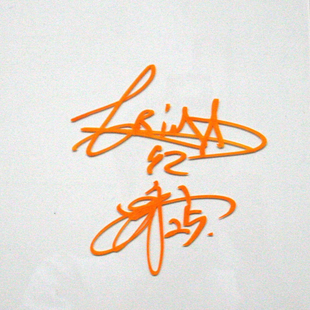 G handsヒーローズ プレート4月3日 阪神タイガース戦 C.C.メルセデス投手 岡本和真選手