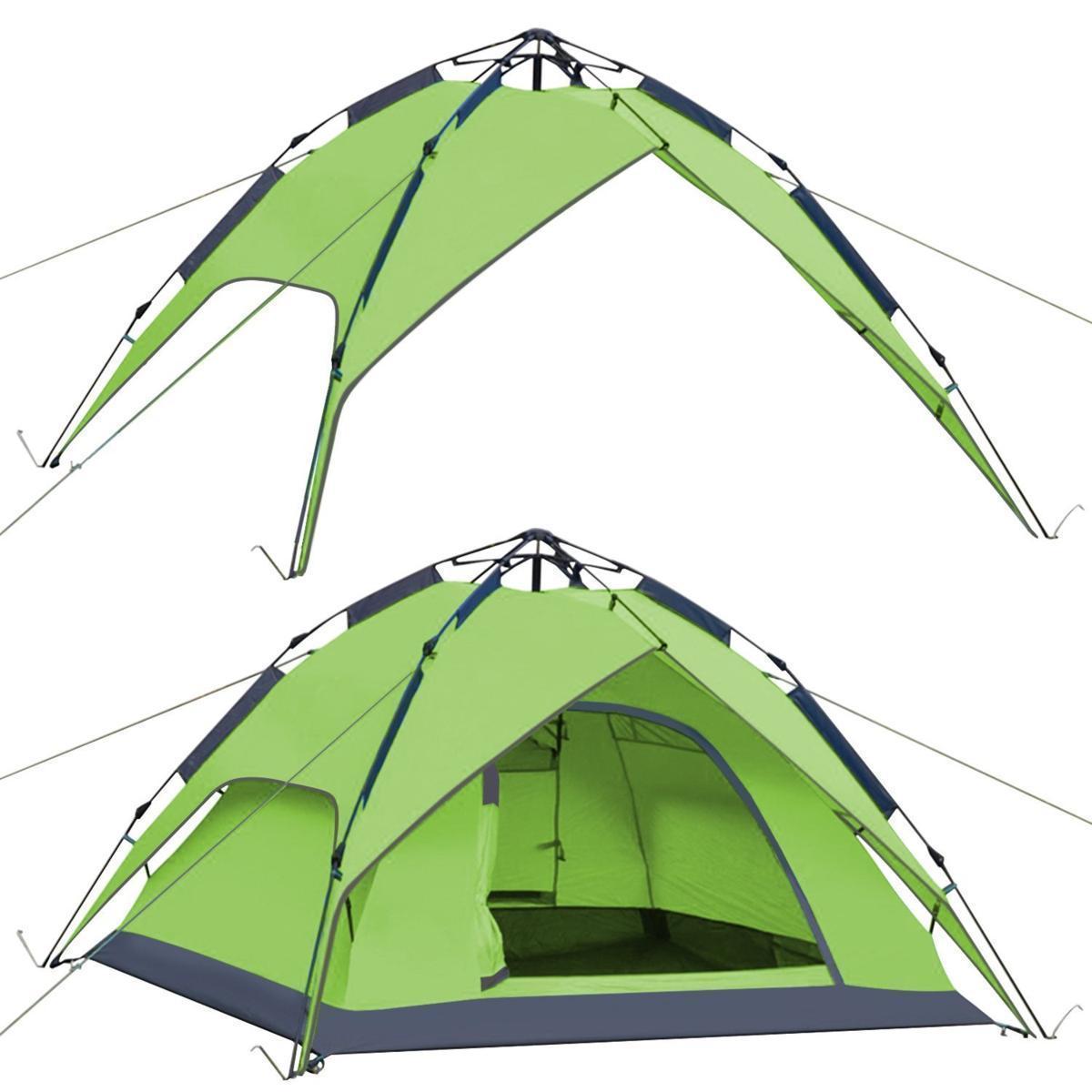 新品ワンタッチテント テント 3~4人用 設営簡単 防災用 2WAY キャンプ用品 撥水加工 紫外線防止 登山 折りたたみ 防水 通気性TT087_画像4