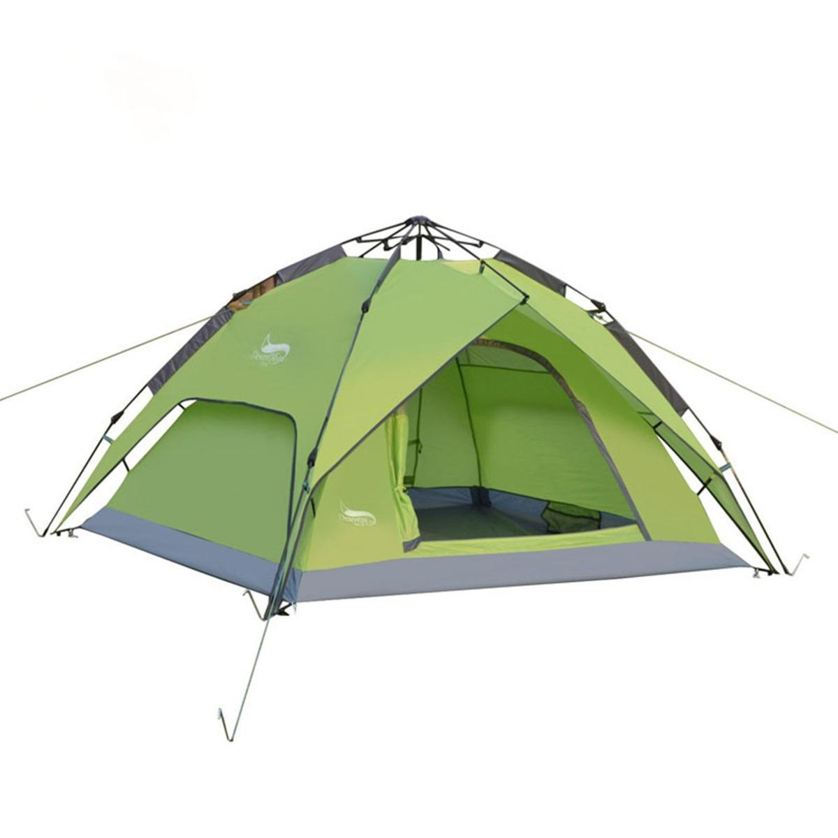 新品ワンタッチテント テント 3~4人用 設営簡単 防災用 2WAY キャンプ用品 撥水加工 紫外線防止 登山 折りたたみ 防水 通気性TT087_画像3