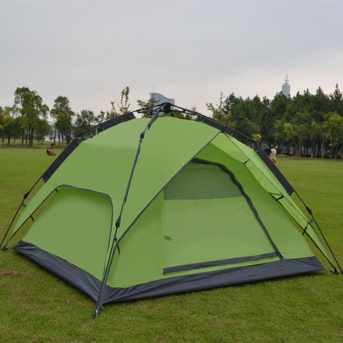 新品ワンタッチテント テント 3~4人用 設営簡単 防災用 2WAY キャンプ用品 撥水加工 紫外線防止 登山 折りたたみ 防水 通気性TT087_画像2