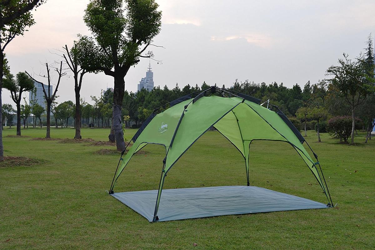 新品ワンタッチテント テント 3~4人用 設営簡単 防災用 2WAY キャンプ用品 撥水加工 紫外線防止 登山 折りたたみ 防水 通気性TT087_画像6